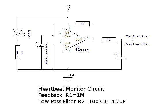the diy heart rate monitor for your health general health Diagram for Wiring Two Doorbells (schematic drawn in design spark, an open source circuit layout software go spark!)